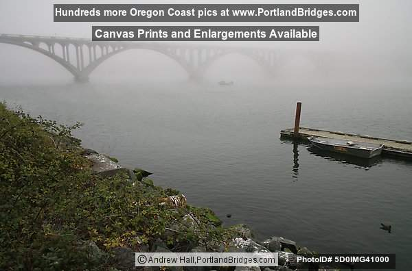 Rogue River Bridge, Gold Beach, Fog