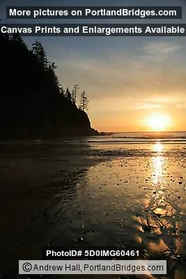 Sunset, Short Sands Beach, Oswald West State Park, Oregon Coast