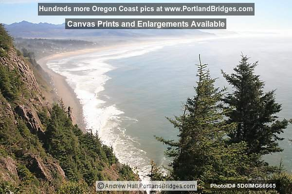 Viewpoint south toward Manzanita, Oregon Coast