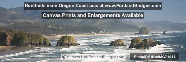Cannon Beach from Ecola State Park, Panoramic