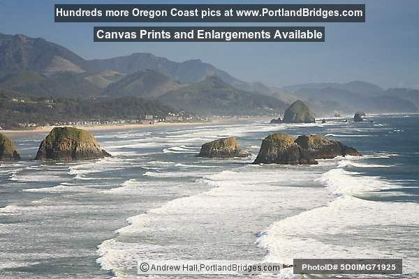 Cannon Beach, from Ecola State Park, Oregon Coast
