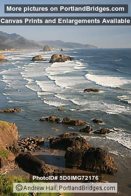 Cannon Beach, Oregon, from Ecola State Park