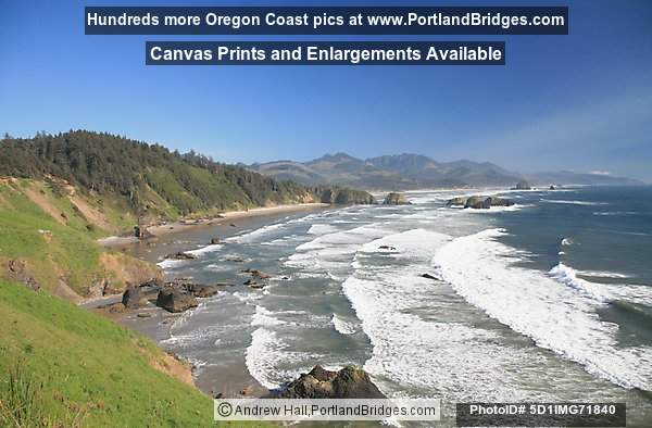 View of Cannon Beach, from Ecola State Park, Oregon Coast