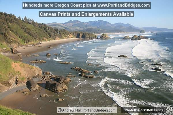 View From Ecola State Park Near Cannon Beach Oregon