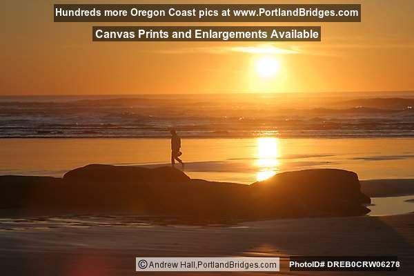 Newport, Oregon, Nye Beach, Sunset