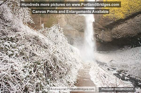 Latourell Falls, Icy, Columbia River Gorge, Oregon