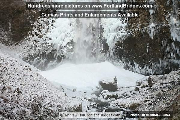 Multnomah Falls, Icy, Columbia River Gorge, Oregon