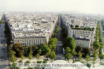 From the top of the Arc de Triomphe