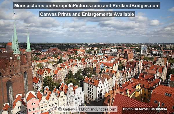 Gdansk, View from Main Town Hall