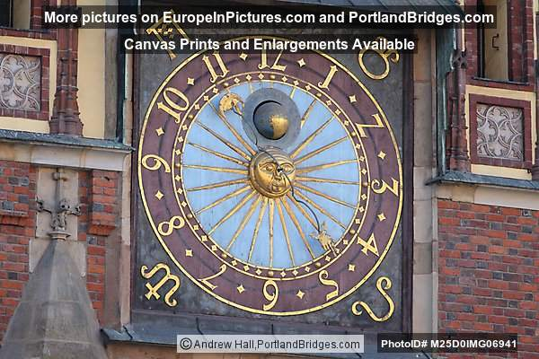 Wroclaw Town Hall Clock