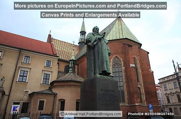 St. Francis of Assisi's Church, Dr. Jozef Dietl Statue, Krakow