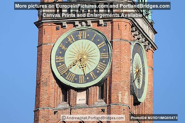 Main Town Hall Clock, Gdansk, Poland