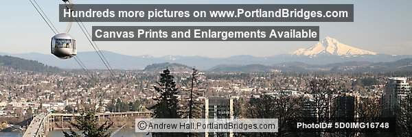 Portland Aerial Tram, Mt. Hood, Panoramic Pictures, OHSU