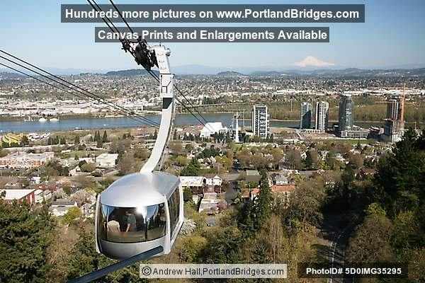 Portland Aerial Tram and South Waterfront (and Mt. Hood)