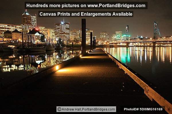 Riverplace, Hawthorne Bridge, Portland at Night