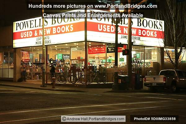Powell's Books at Night, Portland
