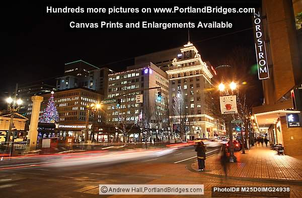 Pioneer Courthouse Square Christmas Tree, Nordstrom, Portland
