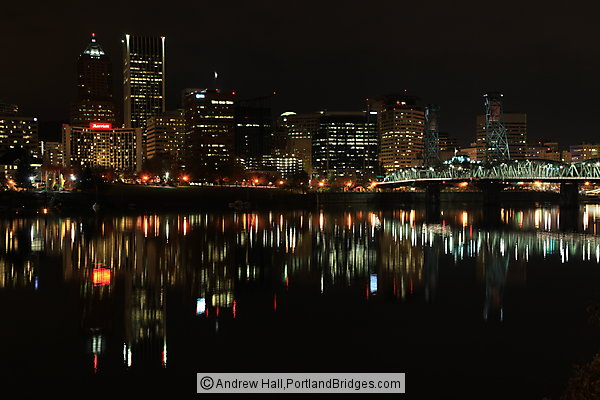Portland Cityscape from OMSI, Night