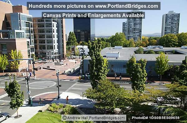 Portland State University's Urban Center, high rise buildings