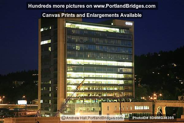 OHSU, South Waterfront, Dusk (Portland, Oregon)