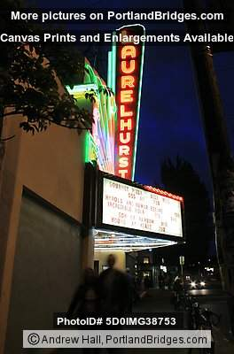 Laurelhurst Theater, Portland, Oregon, Night