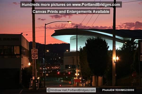 Moda Center Formerly Rose Garden Arena Orange Sky Portland Oregon Photo 5d0img39890