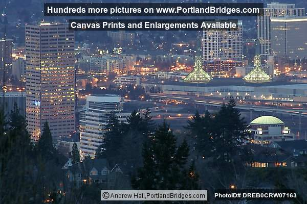 Portland Buildings from Council Crest, Dusk