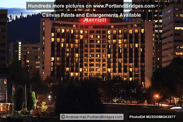 Marriott Waterfront Hotel, Dusk (Portland, Oregon)