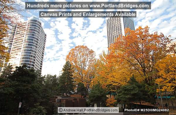 Portland Plaza, Wells Fargo Tower, From Keller Fountain Park
