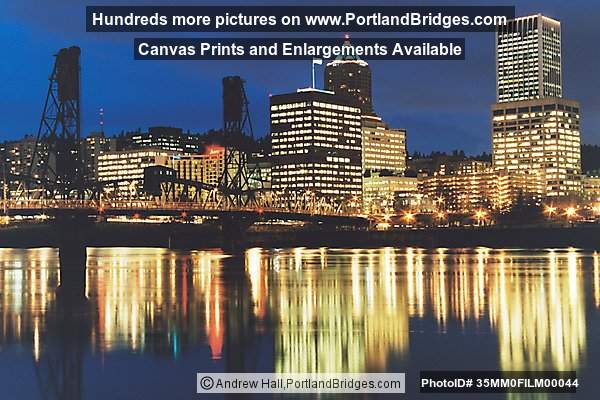 Portland Cityscape, Reflections, Hawthorne Bridge, Best Portland Pictures