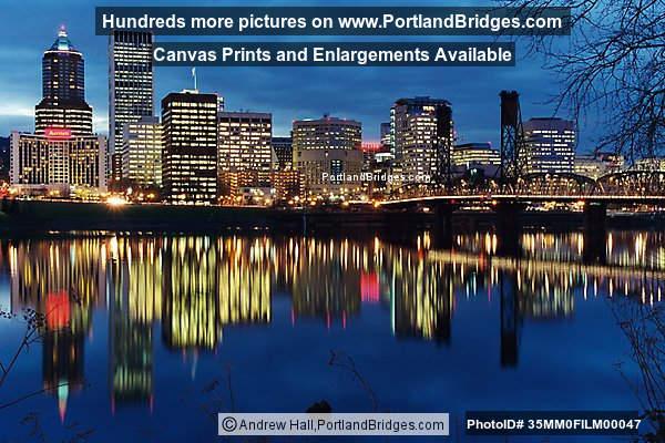 Portland Cityscape, Skyline, Dusk