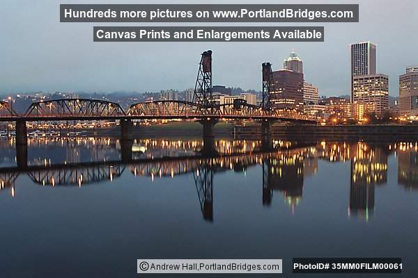 Portland Cityscape, Daybreak, Reflections, Willamette River