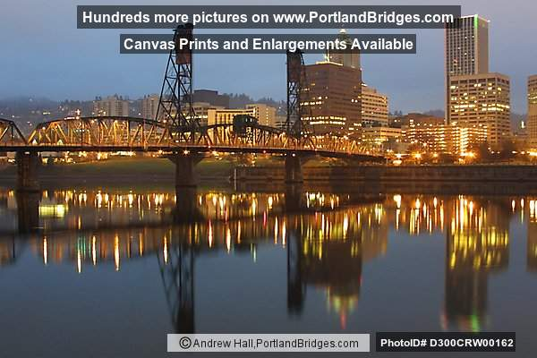 Portland Waterfront, Daybreak, Reflections, Willamette River