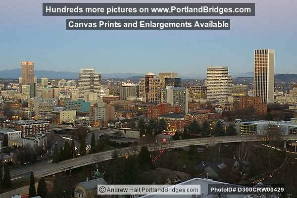 Portland Cityscape, facing east, dusk