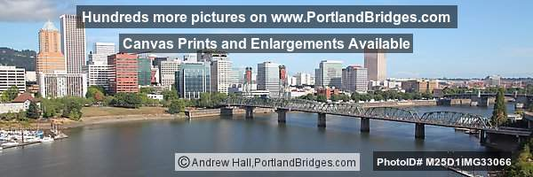 Portland Panoramic, Hawthorne Bridge, from Marquam Bridge