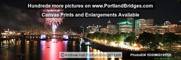 Portland Rose Festival Fireworks, Panoramic