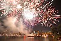 Portland, Oregon July 4th 2012 Fireworks, Downtown, Willamette River