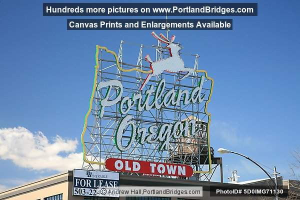 Portland, Oregon Sign, Daytime