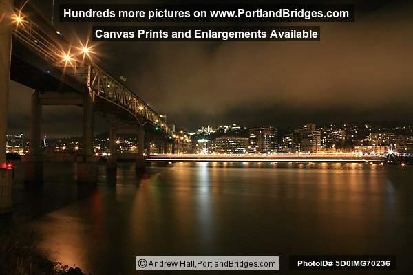Portland Spirit Light Streak under Marquam Bridge Long Exposure