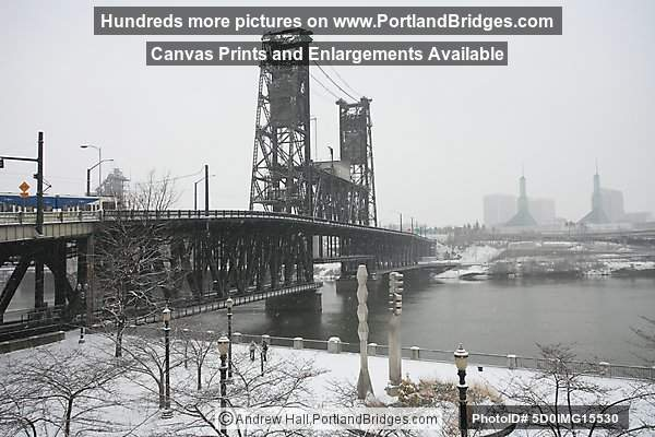 Steel Bridge, Snow (Portland, Oregon)