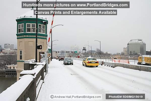 Portland Snow, Burnside Bridge