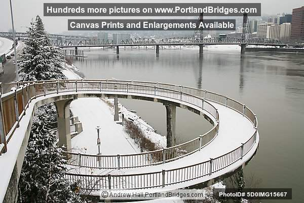 Eastbank Esplanade, Portland; ramp to Morrison Bridge