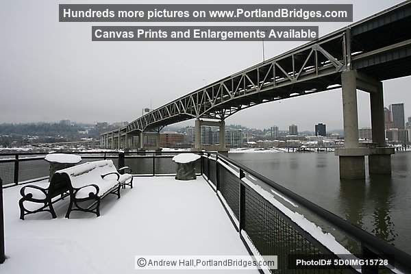 Portland Snow, Marquam Bridge