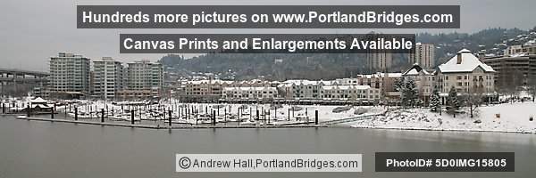 Portland Snow, Riverplace, Panoramic Pictures