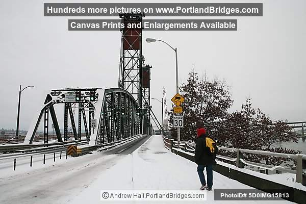 Hawthorne Bridge in the Snow (Portland, Oregon)