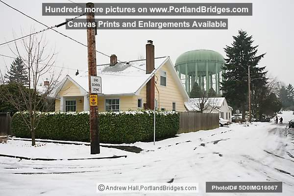 North Portland, Overlook Neighborhood, Snow