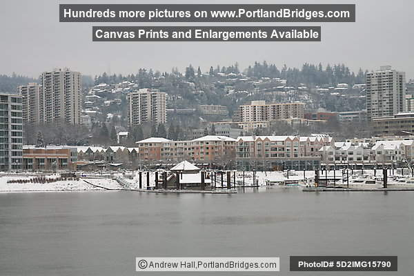 Riverplace in the Snow (Portland, Oregon)