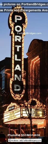 Portland Sign, Arlene Schnitzer Concert Hall