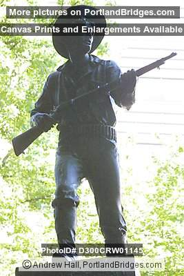 War Memorial, statue top, downtown Portland, Oregon
