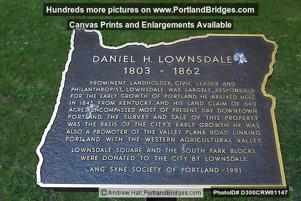 Lownsdale Plaque, Lownsdale Square, downtown Portland